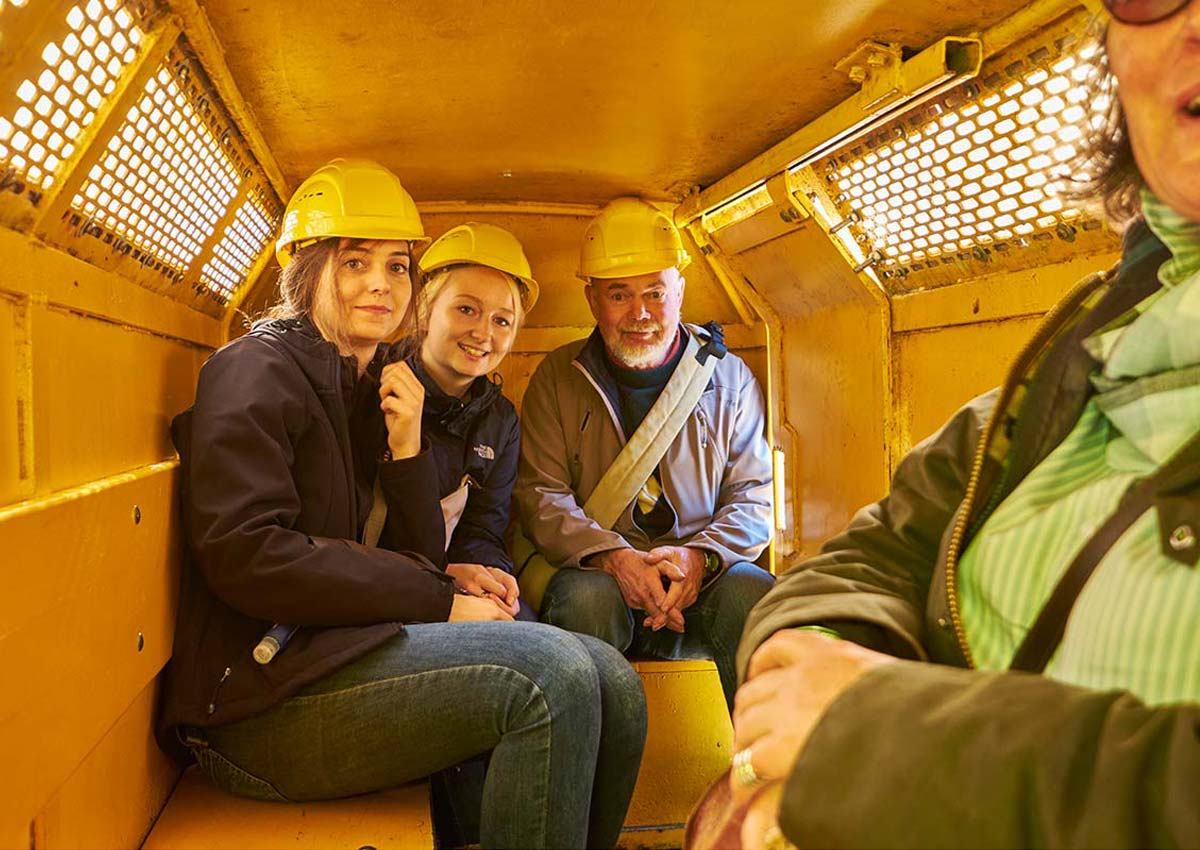 A ride on the mine train in the Rammelsberg Mine