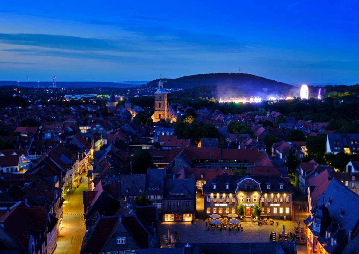Evening in the Historic Town of Goslar